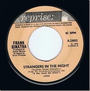 Ecco il disco originale! FIrmo' la prima grande HIT POP di Sinatra in 11 anni!